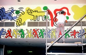 Keith Haring Paints Woodhull Hospital Lobby