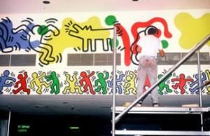 Keith Haring Paints Woodhull Hospital Lobby